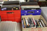 Sale 8139 - Lot 2266 - Boxes of Records x 2 & Box of DVDs