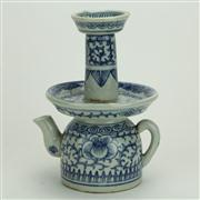 Sale 8393B - Lot 48 - Chinese Blue & White Teapot
