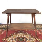 Sale 8649R - Lot 9 - Victorian Oak Two Tiered Hall Table (H: 71cm W: 84cm D: 46cm)