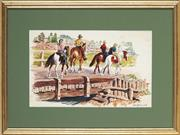 Sale 8945 - Lot 2036 - Cedric Emanuel (1906-1995) - Horse Riding on the Scone Farm 33 x 37 cm (frame: 41 x 52 x 2 cm)
