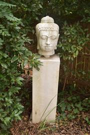 Sale 8950G - Lot 15 - Composite Buddha on plinth, 1.66m Height