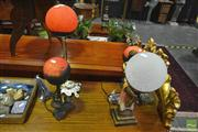 Sale 8251 - Lot 1036 - Collection of Glass Ball Shade Table Lamps