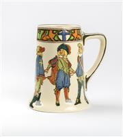 Sale 8530A - Lot 221 - A Royal Doulton Musketeers character jug, H 14.5cm