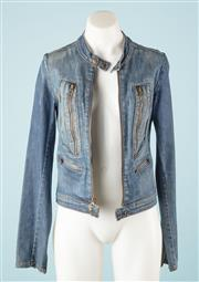 Sale 9027F - Lot 93 - A JJ Joes Denim Jacket with four zip pockets, size M.
