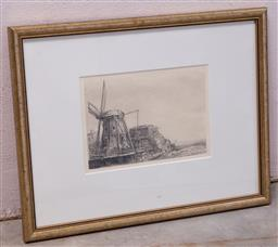 Sale 9150H - Lot 142 - After Rembrandt, The Windmill, engraving, frame size 33cm x 43cm