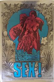 Sale 8297A - Lot 23 - Martin Sharp (1942 - 2013) - SEX!, 1967, London 75.5 x 49cm