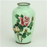 Sale 8393B - Lot 53 - Chinese Green Cloisonne Vase