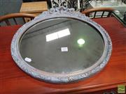 Sale 8455 - Lot 1092 - Round Mirror with Decorative Moulding