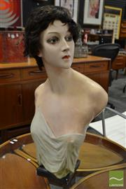 Sale 8511 - Lot 1063 - Art Deco Plaster Cast Female Bust