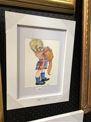 Sale 8779 - Lot 2006 - Greg Lipman - Wee Bairn, pen, ink and gouache, 15 x 20cm, signed