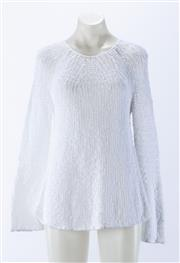 Sale 8910F - Lot 38 - A Theory pure white cotton knit jumper, as new with tags, size S
