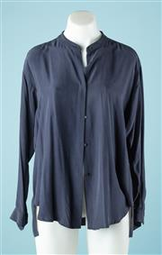Sale 9027F - Lot 98 - A Watson X Watson silk blouse in Navy, size 12
