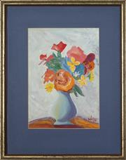 Sale 8753 - Lot 2046 - Leslie Walton (1935-2013) - A Vase of Flowers 27 x 19cm