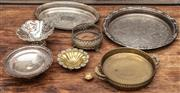 Sale 8942H - Lot 12 - A quantity of silver plated trays and bon bon dishes