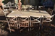 Sale 8972H - Lot 71 - A Set of 10 galvanized iron garden chairs.