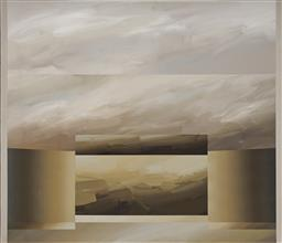 Sale 9133 - Lot 516 - David Voigt (1944 - ) Gold Ridge, 1981 acrylic on canvas 129.5 x 160.5 cm signed, dated and titled verso