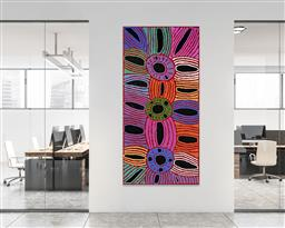 Sale 9171A - Lot 5004 - GLENYS GIBSON NUNGURRAYI (1968 - ) Womens Ceremony acrylic on canvas 202 x 98 cm (stretched and ready to hang) signed verso; certif...