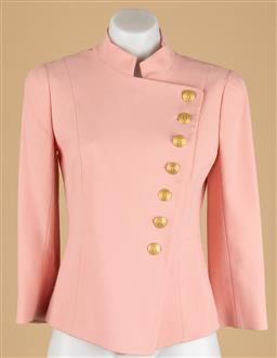 Sale 9250F - Lot 40 - A Pierre Balmain single breasted blazer, with decorative gold B buttons, size 36. (some wear)