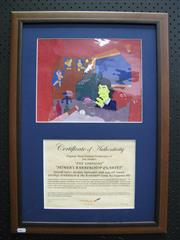 Sale 8125 - Lot 92 - The Simpsons - original hand-painted production cell. Homers Barbershop Quartet, episode 9F21, airdate 30 September 1993, 5th seas...