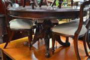 Sale 8147 - Lot 1057 - Reproduction Mahogany Supper Table