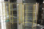 Sale 8346 - Lot 8 - Glass & Brass Pair of Display Cases