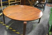 Sale 8386 - Lot 1053 - Retro Circular Coffee Table w Curved Legs