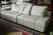 Sale 8532 - Lot 1347 - Two Part King Furniture Leather Lounge