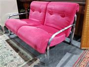 Sale 8760 - Lot 1073 - Vintage Chrome Framed Two Seater Sofa