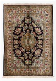 Sale 8790C - Lot 104 - A Persian Qum Pure Silk Pile, 200 x 140cm