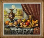 Sale 8818A - Lot 89 - BReinprechtDRI Still Life depicting Flagon and FruitsDR oil on canvasR  49 x 59cmR SLR with details and date verso