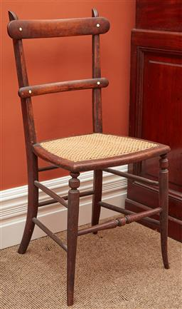 Sale 9108H - Lot 58 - A single cane seated bar back chair, Height of back 81cm