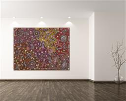 Sale 9178 - Lot 553 - BELINDA GOLDER KNGWARREYE (1986 - ) Bush Yam Dreaming acrylic on canvas 201 x 155 cm (stretched and ready to hang) signed verso; cer...
