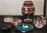 Sale 7950 - Lot 75 - Collection of Art Glass Bowls and Dishes