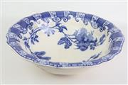 Sale 8470 - Lot 70 - Doulton Burslem Blue and White Floral Wash Bowl