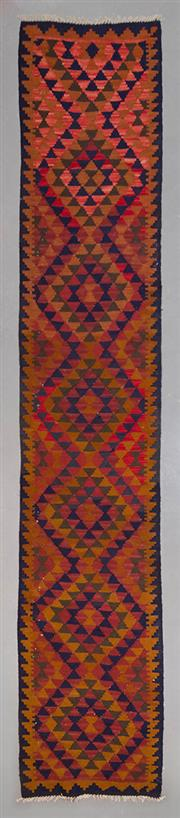 Sale 8499C - Lot 59 - Persian Kilim Runner 450cm x 80cm