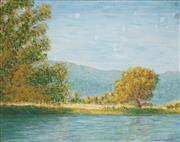 Sale 8821 - Lot 506 - George Patterson - The Murray River, Khancoban NSW 34 x 44cm