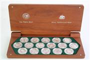 Sale 8835C - Lot 10 - A Cased Set of Sydney 2000 Olympic Silver Coin Collection (Perth Mint and Royal Australian Mint