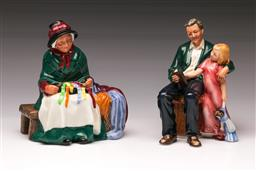 Sale 9110 - Lot 332 - Royal Doulton figure Silks and Ribbons HN 2017 together with Grandpas Story HN 3456