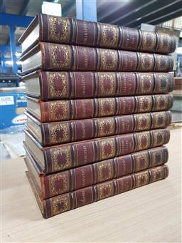 Sale 9180 - Lot 2082 - 8 Leather, Gilt Edged Volumes: 2 x Shakespeare Histories, 2 x Tragedies, 2 x Comedies, Doubtful Plays & Biography 1839