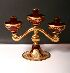 Sale 3650 - Lot 30K - A MURANO THREE LIGHT CANDELABRUM