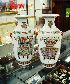 Sale 7360 - Lot 55 - A PAIR OF 19TH CENTURY POLYCHROME VASES