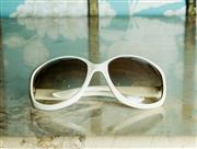 Sale 8420A - Lot 20 - An authentic pair of vintage white Dior sunglasses Jackie O style frames, condition: very good