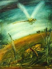 Sale 8565 - Lot 536 - Kevin Charles (Pro) Hart (1928 - 2006) - Dragonflies 30 x 22cm