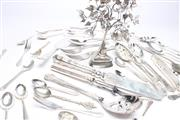 Sale 8685 - Lot 51 - Silver Plated Buddha And Cutlery