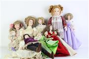 Sale 8835 - Lot 290 - Collection of Franklin Mint Dolls