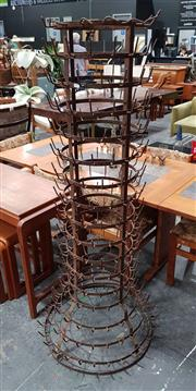 Sale 8908 - Lot 1069 - Large French Metal Bottle Dryer