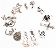 Sale 8937 - Lot 496 - ASSORTED SILVER PENDANTS; 13 various designs including snakes, size 18-42mm, total wt. 46.81g.