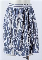 Sale 9003F - Lot 78 - A navy and white pleated Nautica skirt, size 8