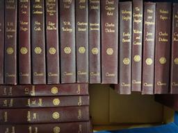 Sale 9180 - Lot 2084 - Box of 20 Classics Incl Waltons The Compleat Angler, David Copperfield, Little Women etc