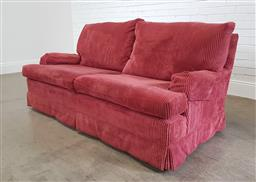 Sale 9255 - Lot 1325 - Fabric upholstered 2.5 seater lounge (h:80 x w:180 xd:100cm)